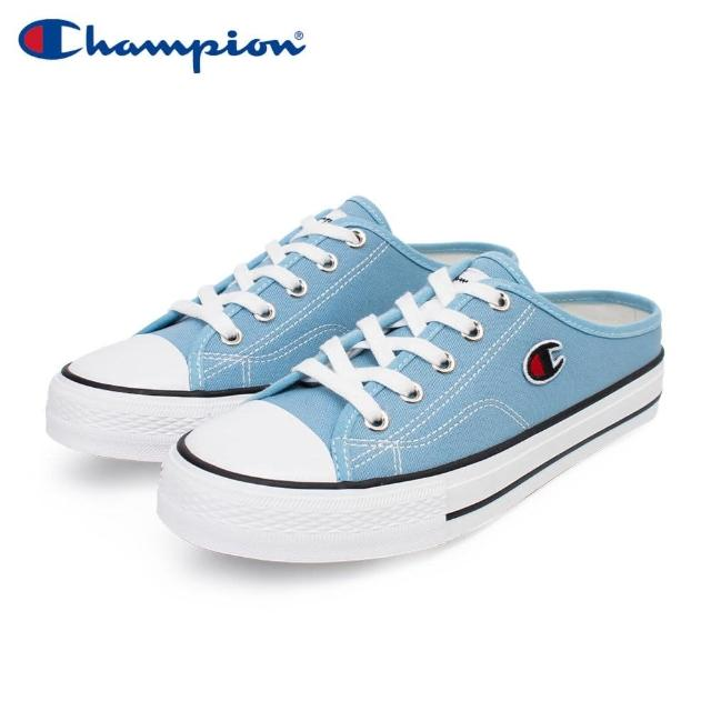 【Champion】女款帆布鞋穆勒鞋CANVAS SLIP-藍NO.WSLS-1014-60