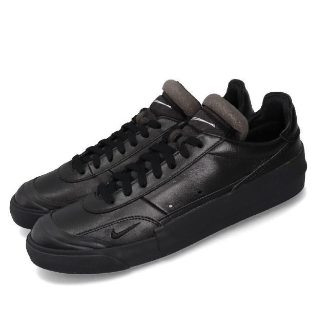 【NIKE 耐吉】休閒鞋 Drop-Type PRM 男鞋 低筒 皮革 復古穿搭 球鞋 黑 白(CN6916-001)