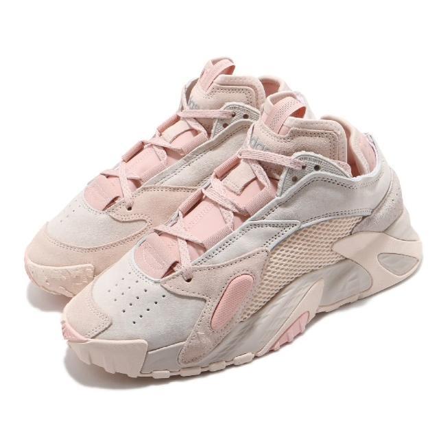 【adidas 愛迪達】休閒鞋 Streetball 經典 女鞋 愛迪達 異材質拼接 避震 球鞋 穿搭 粉 灰(FV4855)