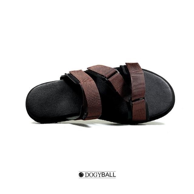 【DOGYBALL】Dogyball簡單穿搭 輕鬆生活 簡約羅馬涼拖鞋 鳶咖色(可調整式涼拖鞋 實穿好搭配 台灣製造)