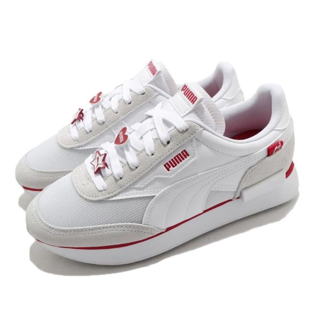 【PUMA】慢跑鞋 女鞋 運動鞋 休閒鞋 情人節 黑標 FUTURE RIDER GALENTINES WNS 3.5 白紅(38012101)