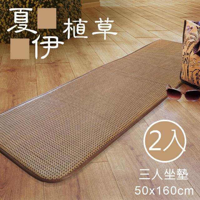 【范登伯格】夏伊 植草編織透氣三人坐墊/沙發墊 二入組(50x160cm)