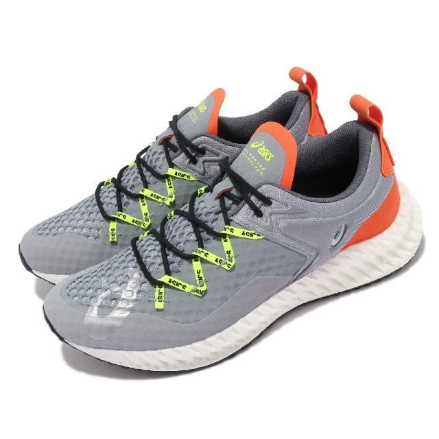 【asics 亞瑟士】慢跑鞋 Microflux 運動休閒 男鞋 亞瑟士 路跑 緩震 輕量 穿搭推薦 灰 黃(1021A233020)