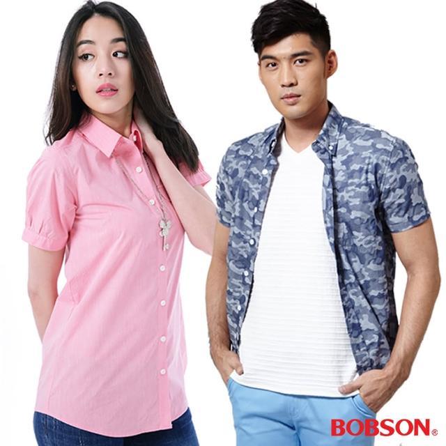 【BOBSON】熱銷再降男女款襯衫(4款任選)