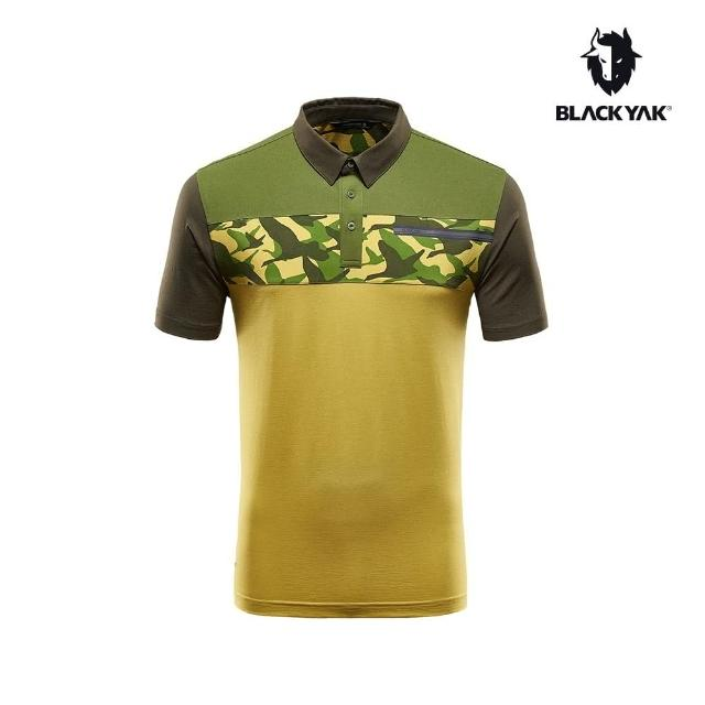 【BLACK YAK】男迷彩印花短袖POLO衫[酪黃色]BY161MC104(韓國 春夏 迷彩短袖 POLO衫 男上衣)