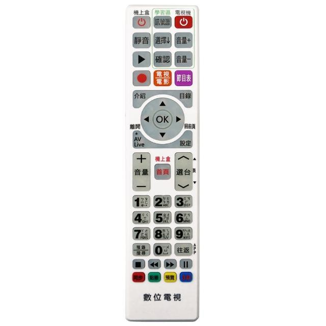 【全區版】第四台有線電視數位機上盒遙控器 MOD-4000(白色)