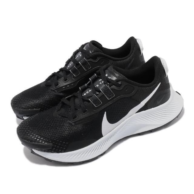 【NIKE 耐吉】慢跑鞋 Pegasus Trail 3 運動 女鞋 氣墊 舒適 避震 路跑 戶外 球鞋 黑 灰(DA8698-001)