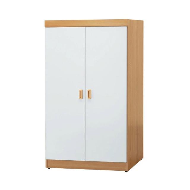 【BODEN】威森2.7尺二門衣櫃(單吊桿+四格)