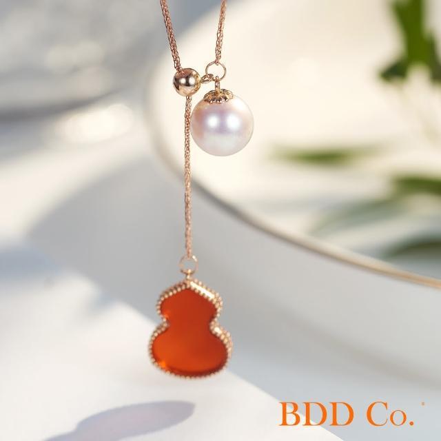 【BDD Co.】BDD-Co.18k玫瑰金Au750(時尚葫蘆珍珠項鏈)