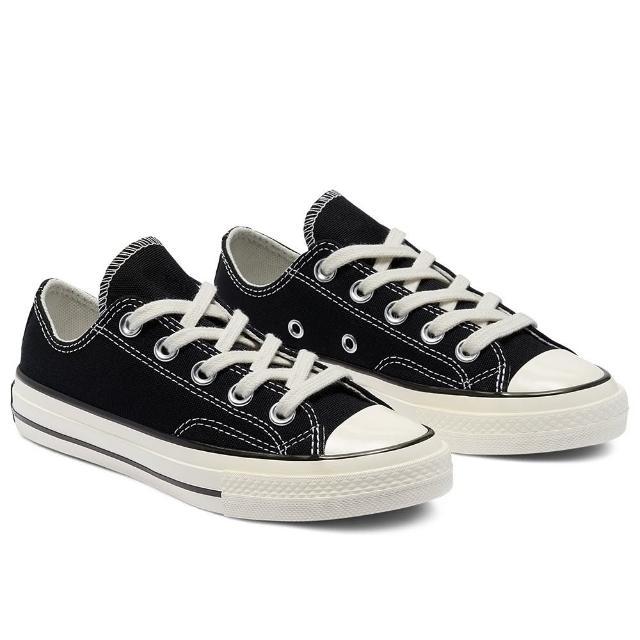 【CONVERSE】休閒鞋 中大童 童鞋 兒童 帆布鞋 運動 低筒 CHUCK 70 OX BLACK/BLACK/EGRET 黑 368986C