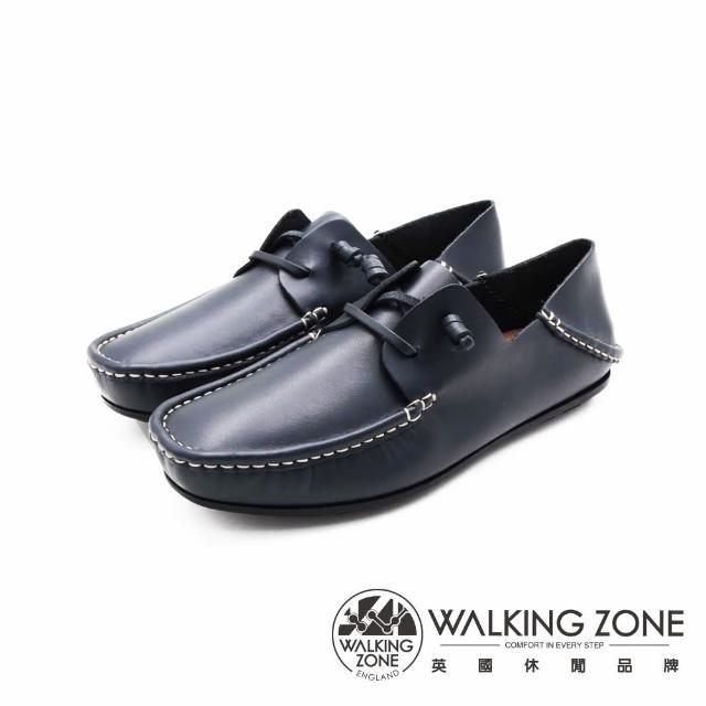【WALKING ZONE】男 兩穿可踩式懶人休閒鞋 男鞋(藍)