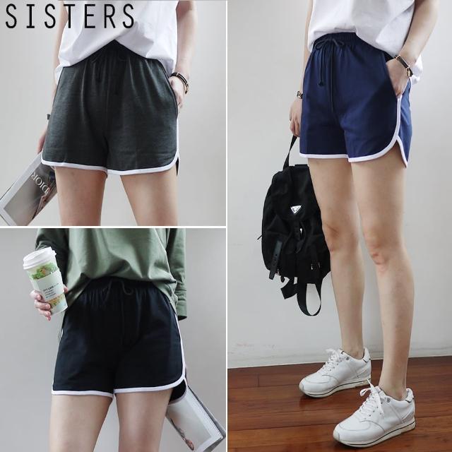 【SISTERS】配色休閒運動短褲/共三色/加大(休閒/運動/短褲/顯瘦)