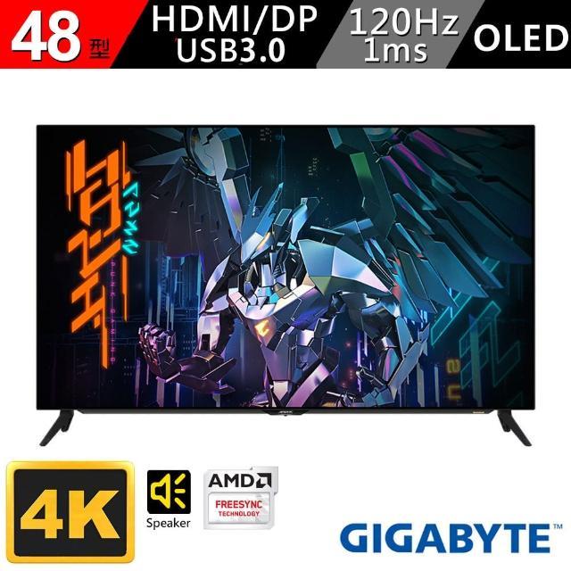 GIGABYTE 技嘉【GIGABYTE 技嘉】技嘉 AORUS FO48U 48型 OLED HDR 真4K電競螢幕(AORUS FO48U)