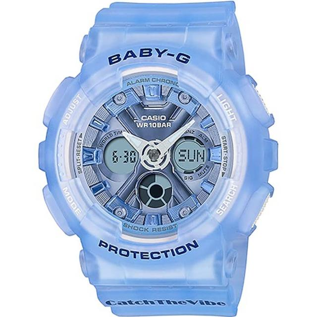 【CASIO 卡西歐】BABY-G RIEHATA聯名復古嘻哈風情雙顯錶(BA-130CV-2A)