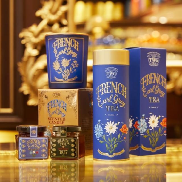 TWG Tea【TWG Tea】限定法式伯爵禮物組(法式伯爵訂製茗茶+法式伯爵茶薰香蠟燭+迷你茶香果醬系列雙入禮盒組)