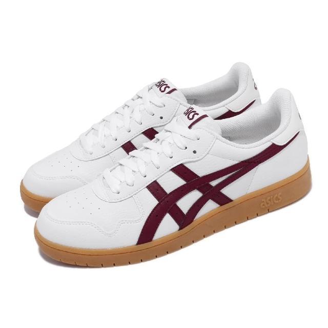【asics 亞瑟士】休閒鞋 Japan S 復古 男鞋 亞瑟士 皮革鞋面 板鞋 穿搭推薦 白 紅(1191A163105)
