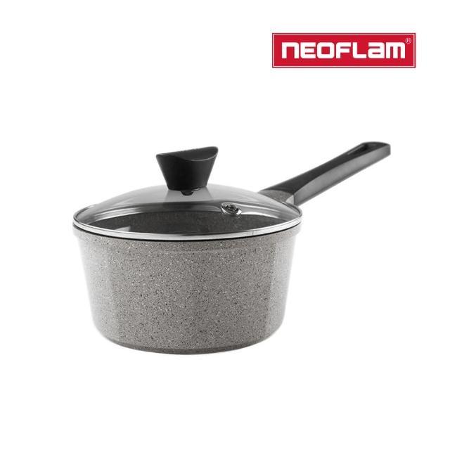 【NEOFLAM】Venn系列18cm單柄湯鍋-淺大理石(含玻璃蓋)