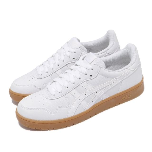 【asics 亞瑟士】休閒鞋 Japan S 復古 男女鞋 亞瑟士 皮革鞋面 板鞋 穿搭推薦 白 棕(1191A163104)