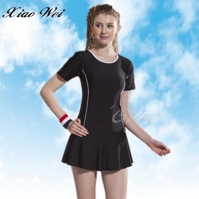【小薇的店】泳之美時尚二件式短袖裙款泳裝(NO.288778)