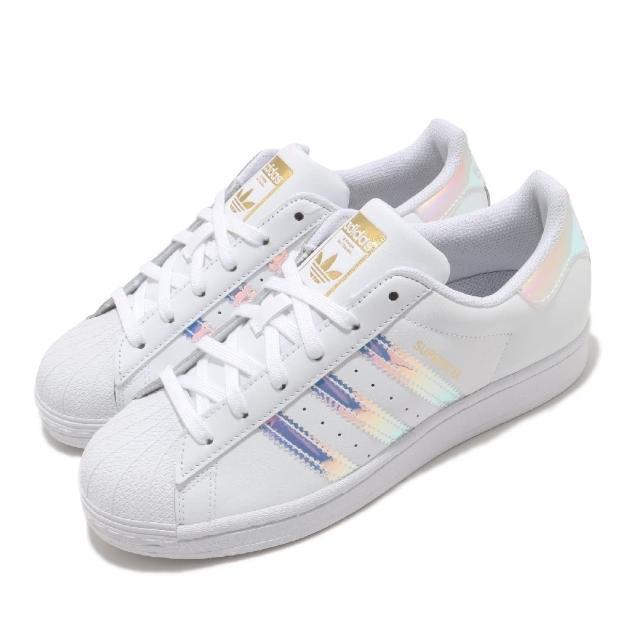【adidas 愛迪達】休閒鞋 Superstar 經典款 運動 女鞋 愛迪達 貝殼頭 舒適 避震 簡約 穿搭 白 銀(FX7565)