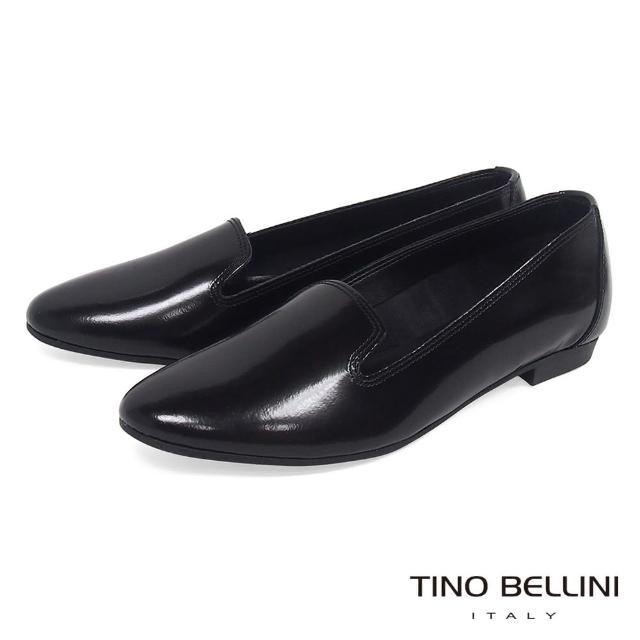 【TINO BELLINI 貝里尼】義大利進口簡約經典樂福鞋VI1003C(黑)