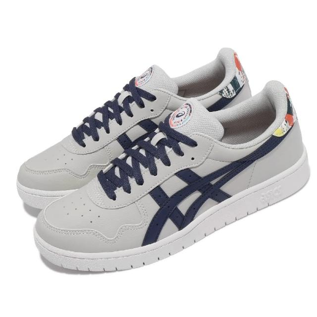 【asics 亞瑟士】休閒鞋 Japan S 板鞋 低筒 男女鞋 亞瑟士 為運動喝采 皮革 穿搭推薦 灰 藍(1201A471960)