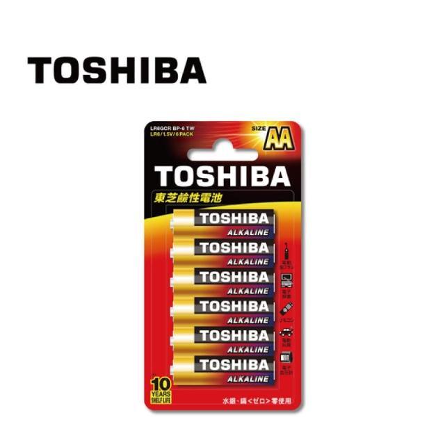 【TOSHIBA 東芝】東芝鹼性3號電池 6入