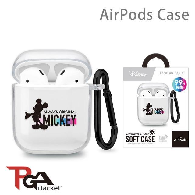 【iJacket】迪士尼 米奇 AirPods 抗菌 透明保護套(總代理商公司貨)