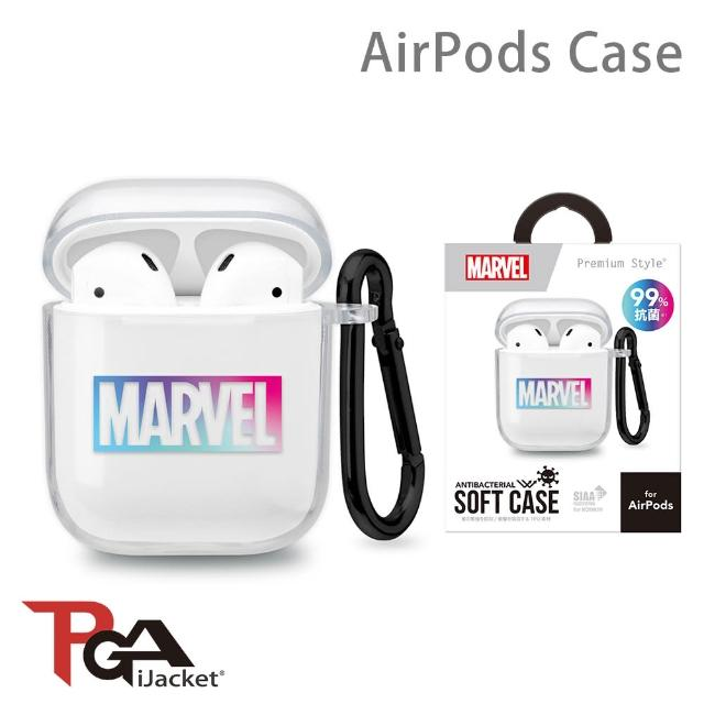 【iJacket】漫威 Marvel AirPods 抗菌 透明保護套(總代理商公司貨)