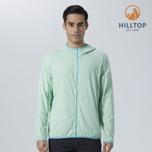 【Hilltop 山頂鳥】男款ColdBlackR冷黑吸濕快乾抗UV外套(S02MA6綠)