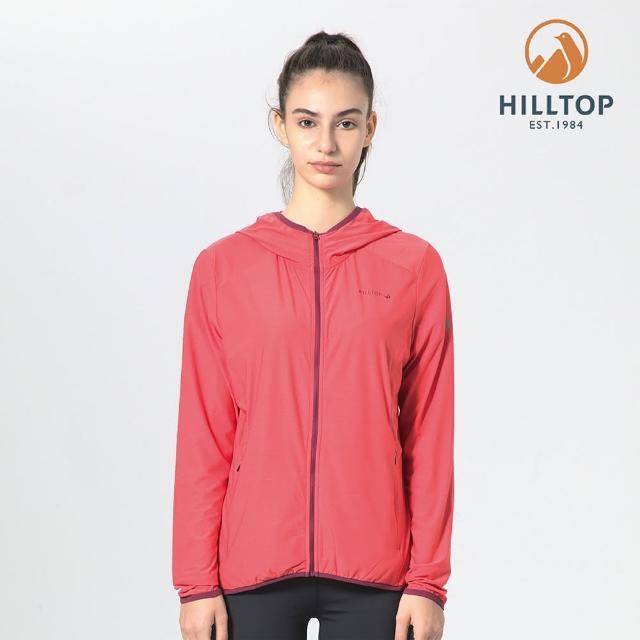 【Hilltop 山頂鳥】女款ColdBlackR冷黑吸濕快乾抗UV外套(S02FE1橘)