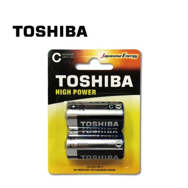 【TOSHIBA 東芝】鹼性2號電池 2入