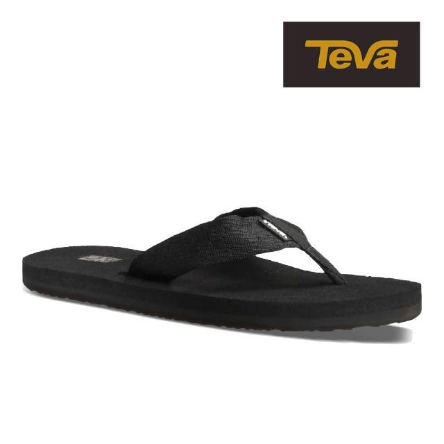 【TEVA】原廠貨 男 Mush II 經典織帶夾腳拖鞋/雨鞋/水鞋(磚黑色-TV4168BKBL)