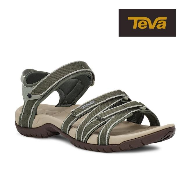 【TEVA】原廠貨 女 Tirra 水陸多功能運動涼鞋/雨鞋/水鞋(灰綠色/百里香綠-TV4266STHY)