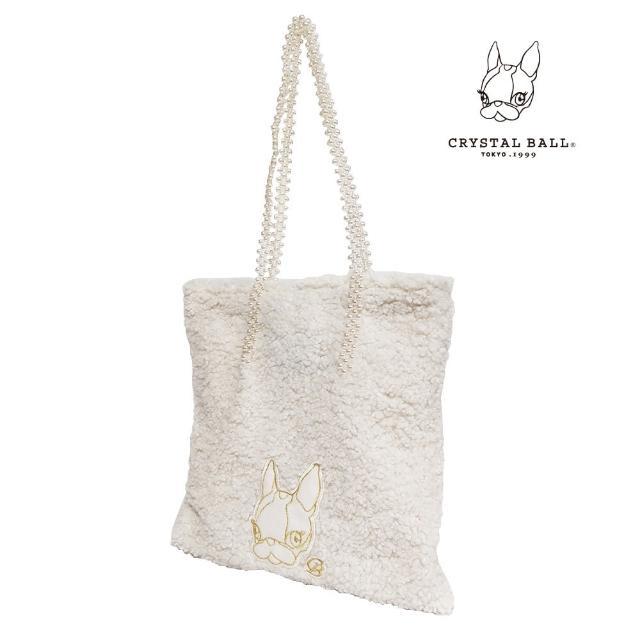 【CRYSTAL BALL 狗頭包】Pearl handle mocomoco bag時尚包(狗頭包)