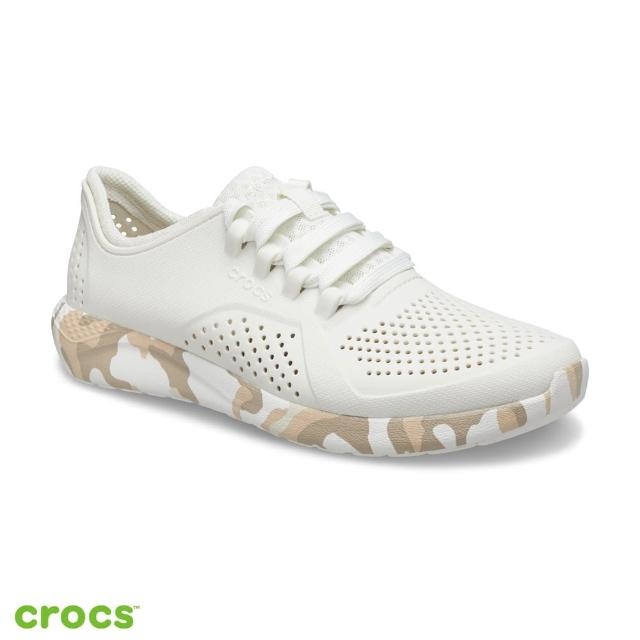 【Crocs】女鞋 LiteRide迷彩印花繫帶鞋(206494-1CN)