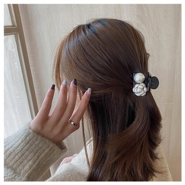 【HaNA 梨花】韓國山茶花珍珠.小香世代髮夾小抓夾