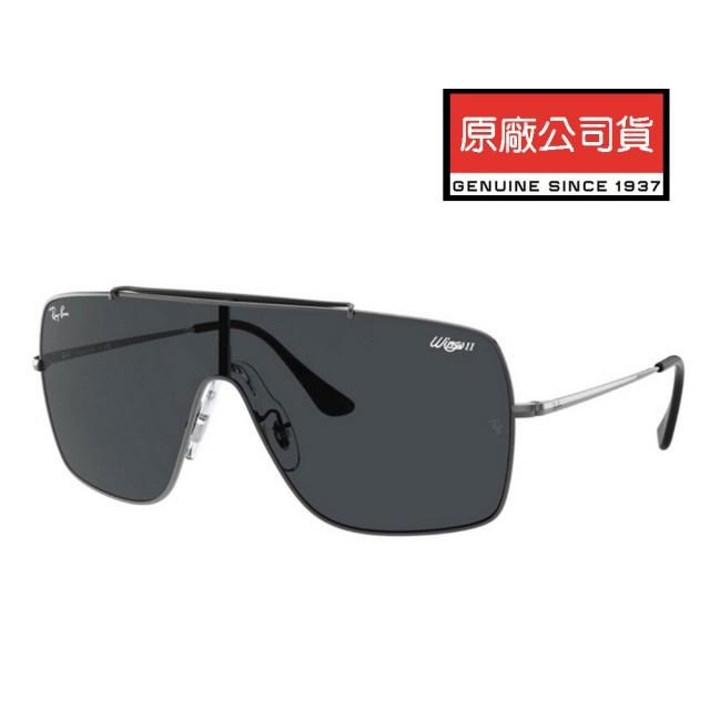 【RayBan 雷朋】WINGS II 輕量舒適太陽眼鏡 RB3697 004/87 鐵灰框深灰鏡片 公司貨