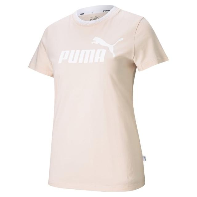 【PUMA】PUMA 基本系列Amplified短袖T恤 女 短袖上衣 淡粉紅色(58590227)