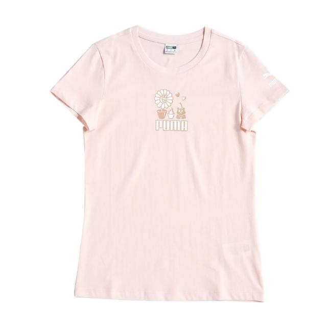 【PUMA】PUMA 流行系列Summer Streetwear短袖T恤 女 短袖上衣 淡粉紅色(53255227)