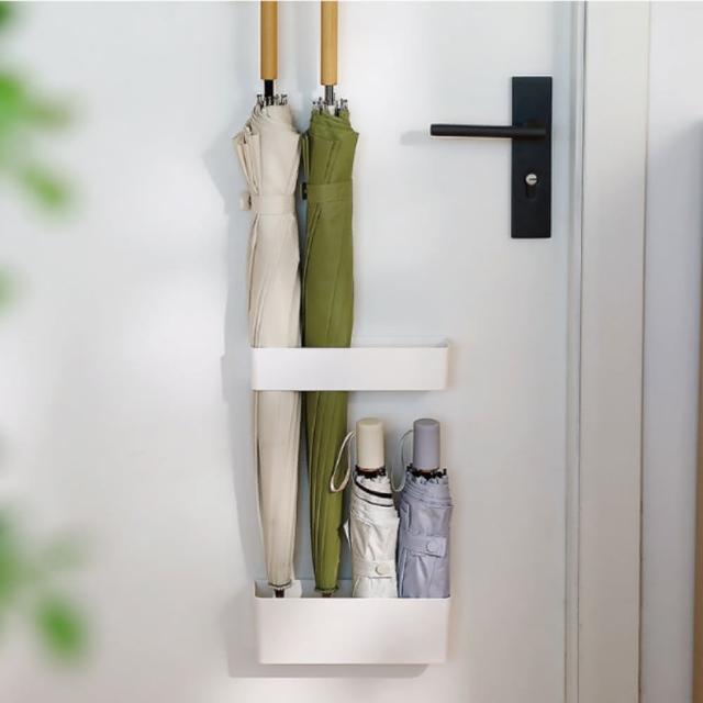 【品川製物】壁貼式雨傘架(免釘不傷牆面)
