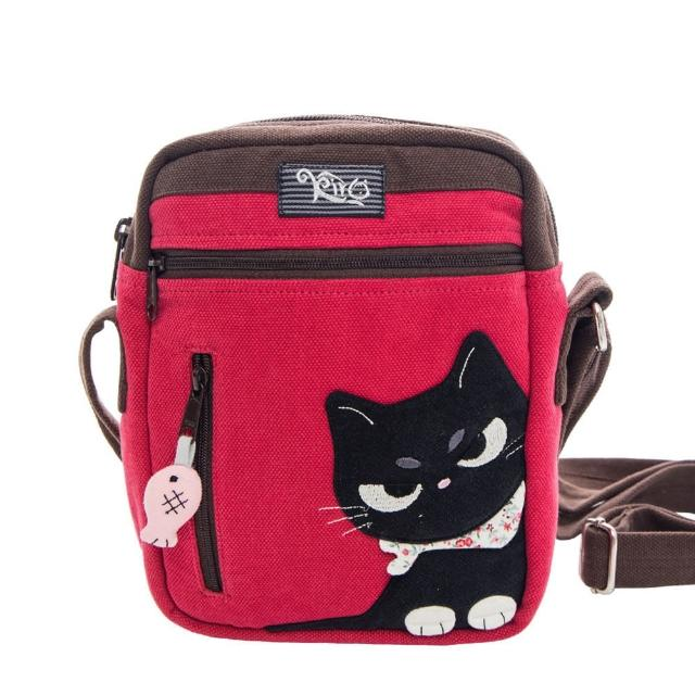KIRO 貓【KIRO 貓】小黑貓 多格層 休閒 側背包/小方包/斜背包(810114)