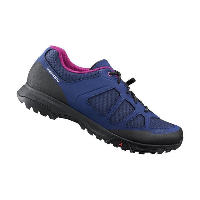 【SHIMANO】ET300 女款休閒平底車鞋 加大旅行鞋楦 紫色