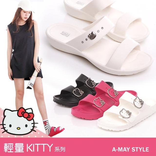 【Amay Style 艾美時尚】MIT可愛KITTY輕量涼拖鞋(共5款.現貨)