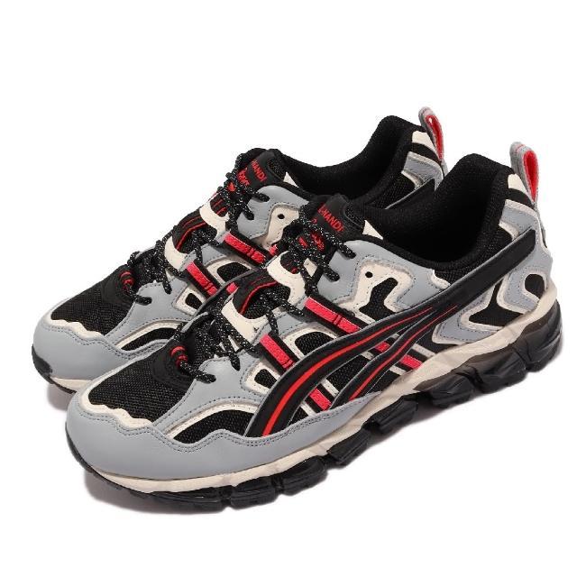 【asics 亞瑟士】休閒鞋 GEL-Nandi 360 男鞋 亞瑟士 皮革 大膽線條 穿搭推薦 黑 灰(1021A325001)