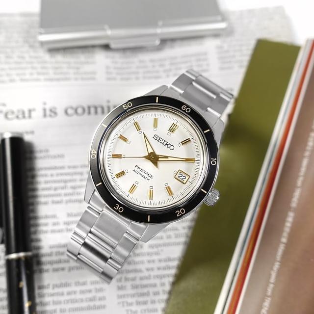 【SEIKO 精工】PRESAGE 復刻60年代 機械錶 自動上鍊 不鏽鋼手錶 銀白色 41mm(4R35-05A0S.SRPG03J1)