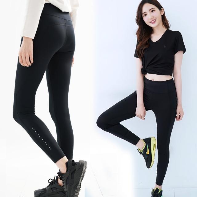 【遊遍天下】MIT女款彈力機能緊身褲GP1022黑色(慢跑/重訓/瑜珈/有氧 S-XL)