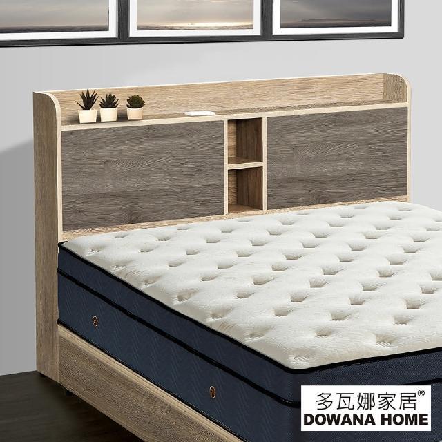 【多瓦娜】皮克5尺床頭片-附插座-三色