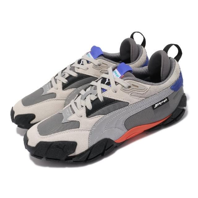 【PUMA】休閒鞋 Centaur Attempt 情侶 男女鞋 海外限定 聯名款 當代藝術 麂皮 反光 灰 藍(373518-01)