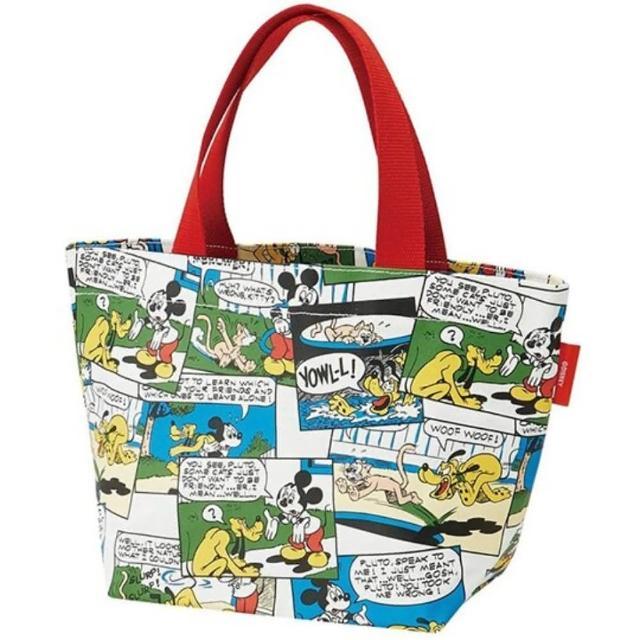 【小禮堂】迪士尼 帆布手提袋 船形手提袋 便當袋 帆布袋 《紅綠 漫畫格》
